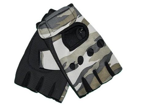Перчатки велосипедные, материал - неопрен. Защитного  цвета :(8015):