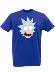 Футболка с принтом мультфильма Рик и Морти (Rick and Morty) синяя 002