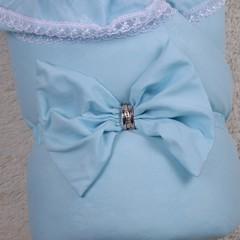 Зимний конверт-одеяло Очарование голубой
