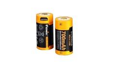Аккумулятор RCR123 / 16340 LI-ION Fenix 3.6V, 700mAh + micro USB port