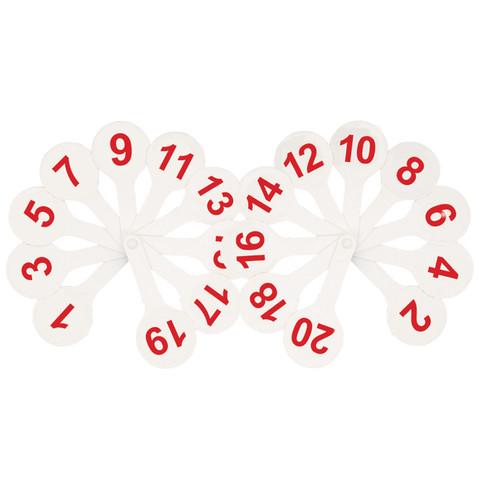 Касса цифр веер Стамм ( от 1 до 20 )