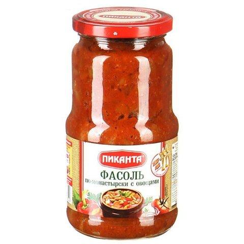 Фасоль с овощами Пиканта МИНИМАРКЕТ 0,53кг