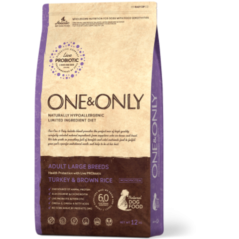 One&Only Turkey & Brown Rice Adult Large Breeds - 12 кг