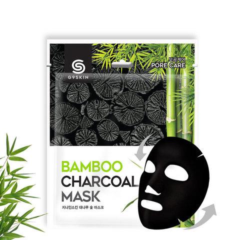 Маска для лица тканевая G9 Skin с бамбуковым углем 25 гр