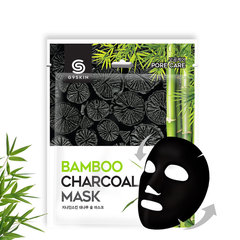 Маска для лица тканевая с бамбуковым углем