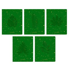 Тетради А5 48л. Скрепка. Клетка-TOTAL GREEN. Flora