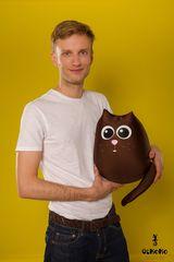 Подушка-игрушка антистресс Gekoko «Кот шоколадный большой» 1