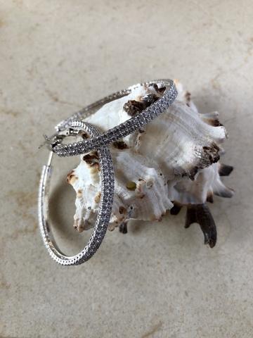 Серьги Виава, серебряный цвет