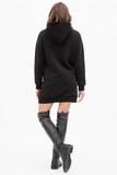 Утепленное платье-туника для беременных и кормящих 11384 черный