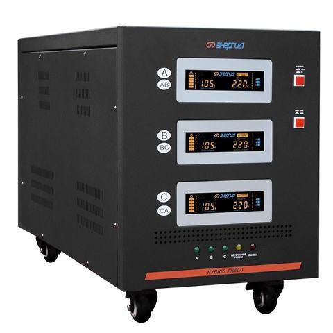 Стабилизатор трёхфазный Энергия Hybrid 30000 II поколение