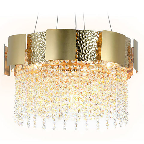 Подвесная хрустальная люстра TR5245/7 GD/CL золото/прозрачный E14/7 max 40W D500*630
