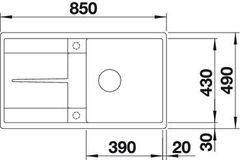 Мойка Blanco Metra 5S-F - схема