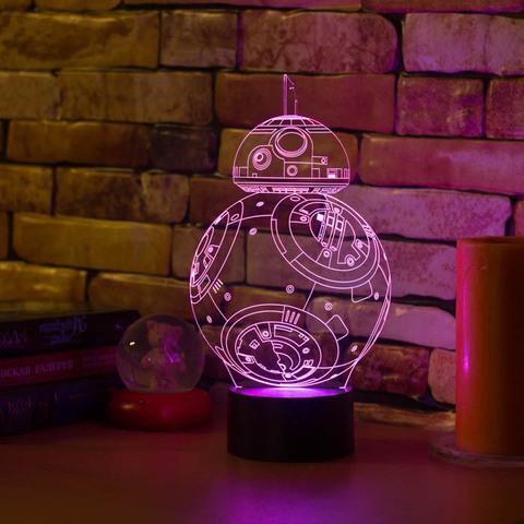 3D светильник Робот BB-8