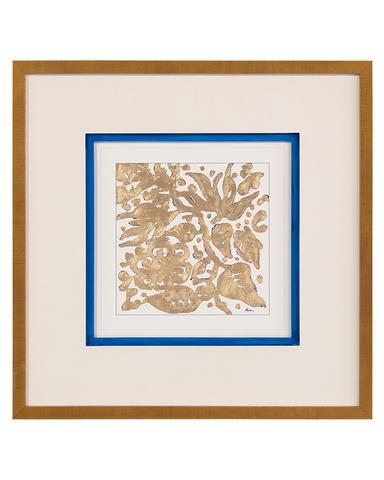 Dyann Gunter's Blue Gold Floral I