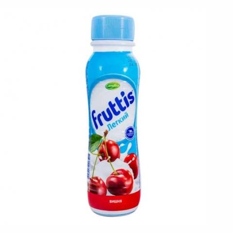Йогурт питьевой FRUTTIS Легкий Сок вишни 0,1% 285 гр Campina РОССИЯ
