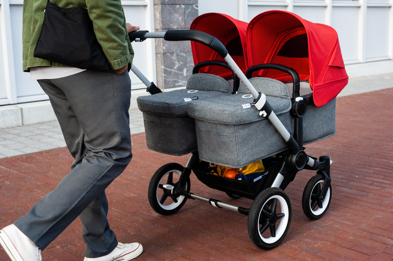 Коляска 2 в 1 Bugaboo Donkey3 Twin Alu/Grey Melange/Red