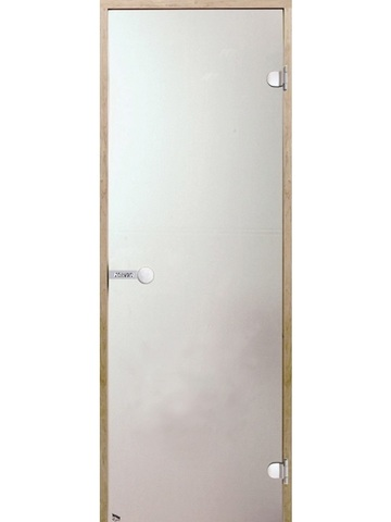 Дверь стеклянная Harvia 7х19, коробка осина, стекло сатин, артикул D71905H