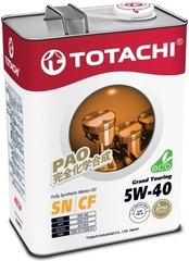 Синтетическое моторное масло TOTACHI Grand Touring 5W-40 4 л