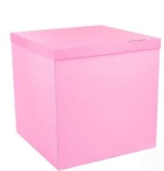 Большая коробка для шаров (розовая) 60*80*80