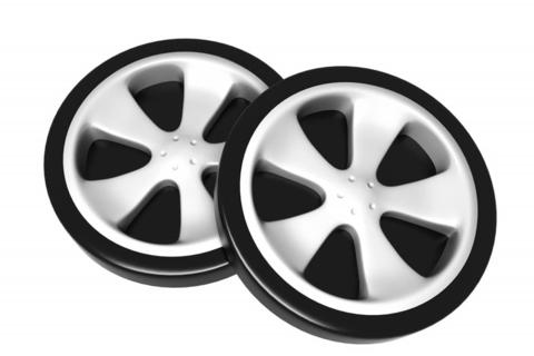 Пластиковые колеса для кровати-машины