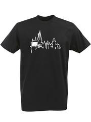 Футболка с однотонным принтом Гарри Поттер, Хогвартс (Harry Potter, Hogwarts) черная 005