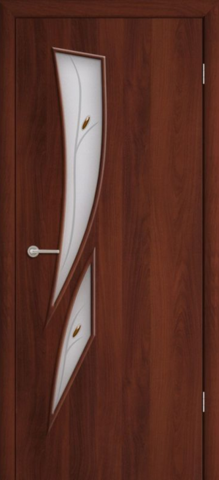 Дверь Фрегат ПО-012Ф, цвет итальянский орех, остекленная