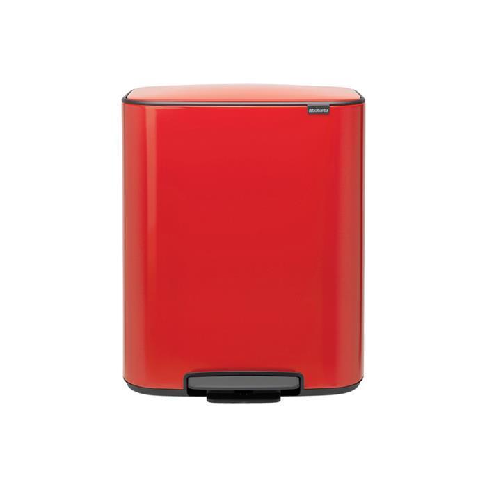 Мусорный бак Bo с педалью (60 л), Пламенно-красный, арт. 211386 - фото 1