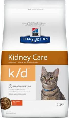 Hills Prescription Diet k/d Kidney Care при лечении заболеваний почек, с курицей, 1,5 кг