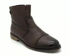 Коричневые ботинки на замке