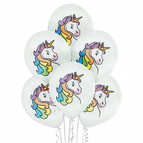 Воздушные шары Единорог белые