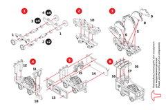 Вагончик с углем (UNIWOOD) - Миниатюрный деревянный конструктор, 3D пазл, сборная модель
