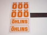 Наклейки для амортизатора Ohlins комплект оранжевый