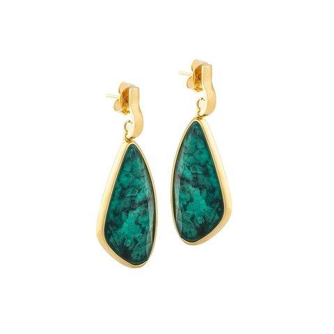 Серьги emerald A4031.17 G/G