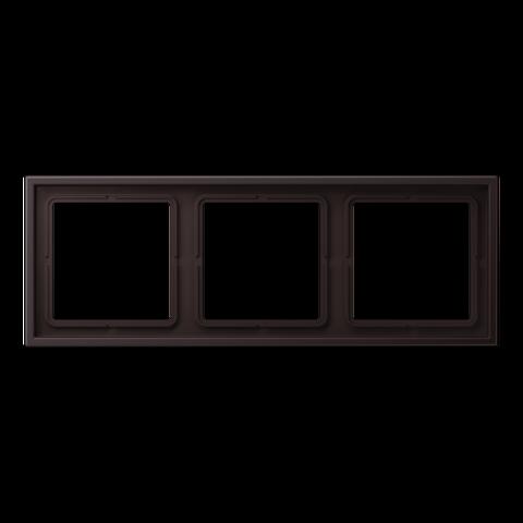 Рамка на 3 поста. Цвет Dark. JUNG LS ZERO. LSZAL983BFD
