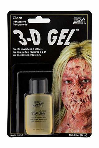 MEHRON 3-D Гель для спецэффектов Makeup 3-D Gel (0.5 oz), Clear - (прозрачный), 15 мл