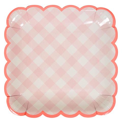 Тарелки розовые
