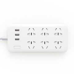 Удлинитель Mi Power Strip Quick Charger 2.0 (6 + 3 USB-port) белый
