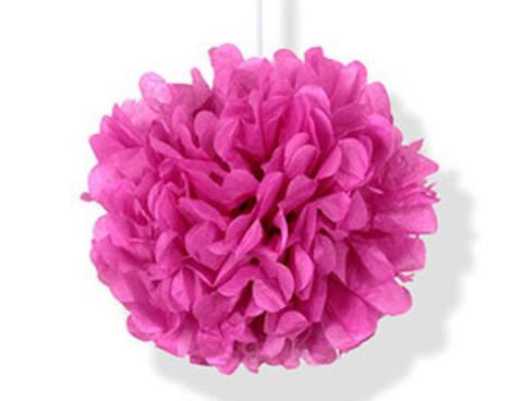 1412-0173 Помпон бумажный ярко-розовый 30см