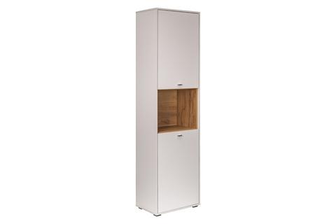 Шкаф комбинированный Бэль 10.04 Моби белый премиум, дуб золотой craft