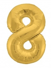 Р Цифра, 8 Slim, Золото, в упаковке 40