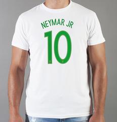Футболка с принтом Неймар (Neymar) белая 004