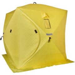 Палатка для зимней рыбалки Helios Куб трехслойная 1,8х1,8 (HS-ISCI-180YG)