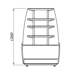 Кондитерская витрина K70 VM-3 0011-9005 (ВХСв-У1д Carboma ТЕХНО), +6...+12С