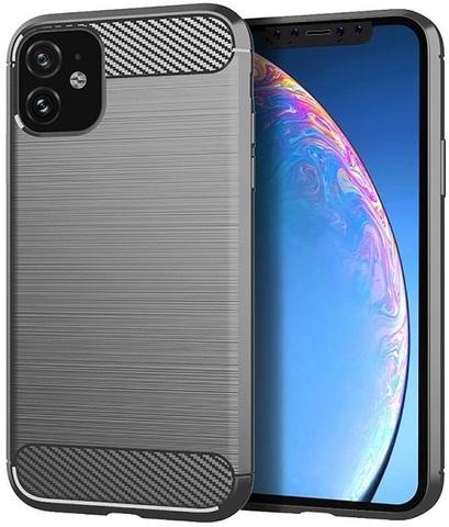 Чехол Carbon для iPhone 11 серия Карбон | серый
