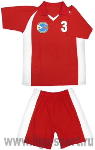 Форма футбольная красная производство Лига-Спорт