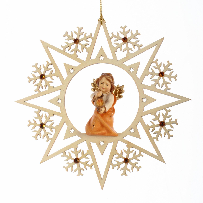 Ангел с лампадой со стразами Сваровски