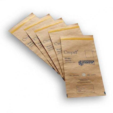 Крафт - пакеты бумажные с индикатором 75*150