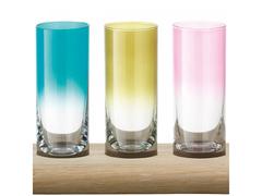 Набор разноцветных стопок для водки на подставке Paddle LSA International, 12 шт, фото 1