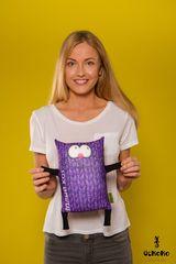 Мягкая игрушка-подушка Gekoko «Теплый кот», фиолетовый 1
