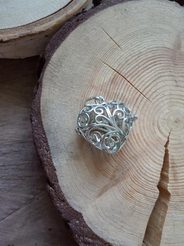Медальон для камней Сердце